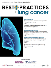 Best Practices in Lung Cancer – November 2018 Vol 9