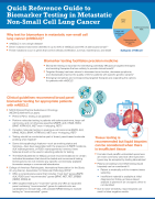 Metastatic NSCLC Biomarker Testing Reference Guide